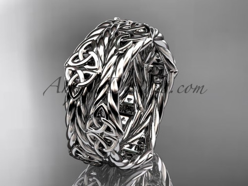14k white gold twisted rope celtic wedding band RPCT9357G