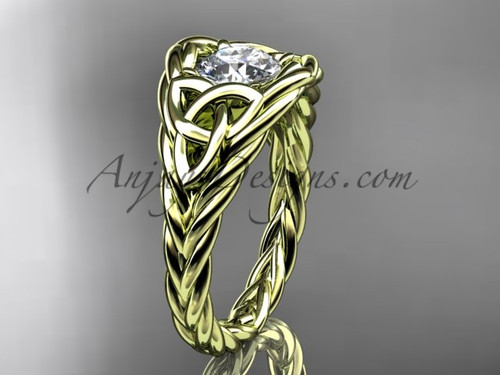 14k yellow gold rope nautical promise ring RPCT964