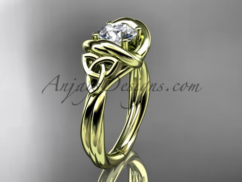 celtic sapphire engagement ring 14k yellow gold RPCT9146