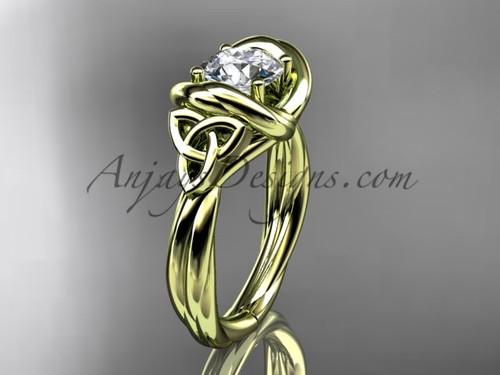 celtic moissanite engagement ring 14k yellow gold RPCT9146