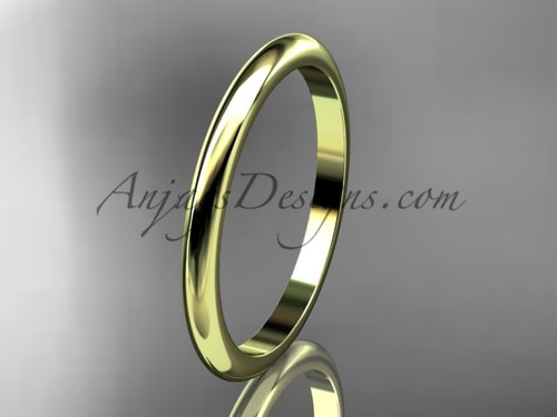 14k yellow  gold traditional 2mm wide wedding band WB50102G