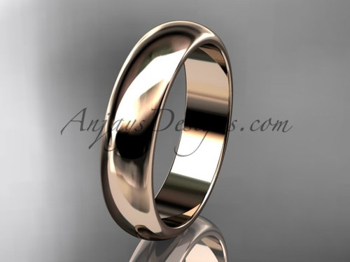 14k rose gold traditional 5mm wide wedding band WB50105G
