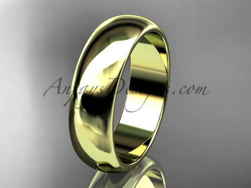 14k yellow gold traditional 6mm wide wedding band WB50106G