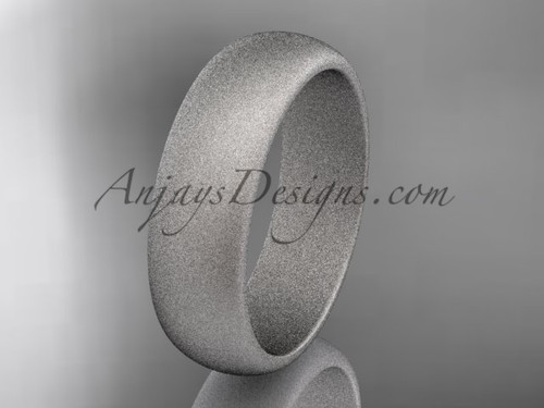 Platinum matte finish traditional 6mm wide wedding band WB50106G