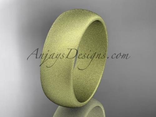 14k yellow matte finish gold traditional 7mm wide wedding band WB50107G