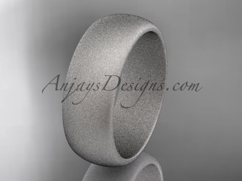 Platinum matte finish traditional 7mm wide wedding band WB50107G