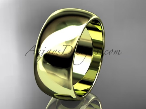14k yellow gold traditional 9mm wide wedding band WB50109G