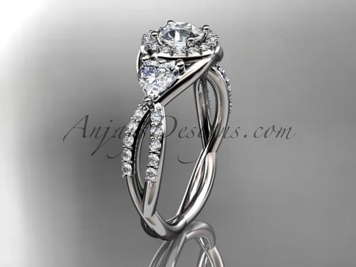 Platinum diamond engagement ring, wedding ring ADLR321