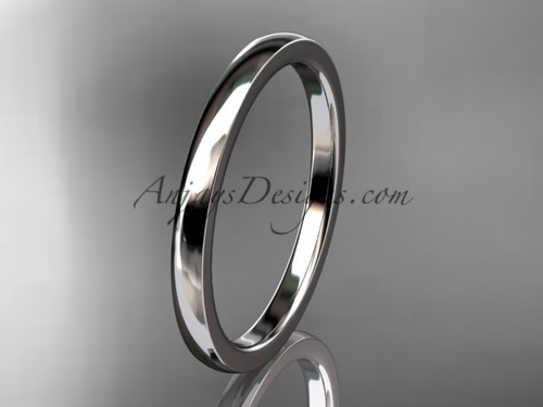 14k white gold comfort fit 2mm wide wedding band WB50202G