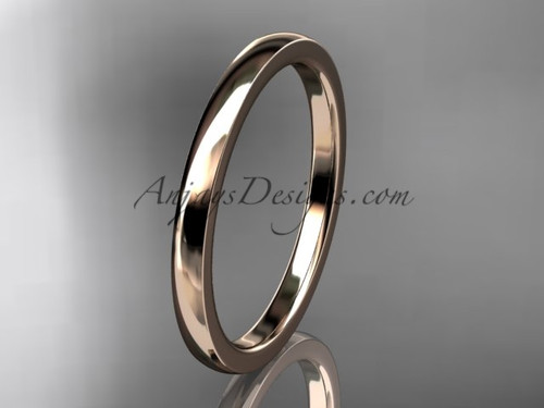 14k rose  gold comfort fit wedding band 2mm WB50202G