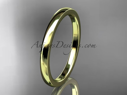 14k yellow gold comfort fit 2mm wide wedding band WB50202G