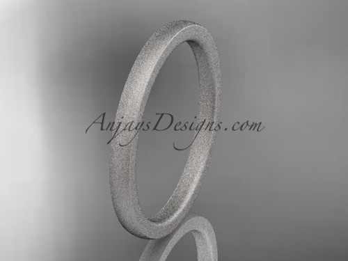 matte finish 14k white gold 2mm  comfort fit ring WB50202G