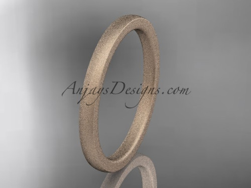 matte finish 14k rose gold 2mm  comfort fit ring WB50202G