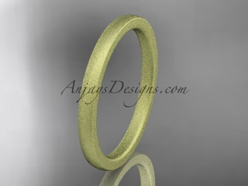 matte finish 14k yellow gold 2mm  comfort fit ring WB50202G