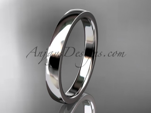14k white gold comfort fit 3mm wide wedding band WB50203G