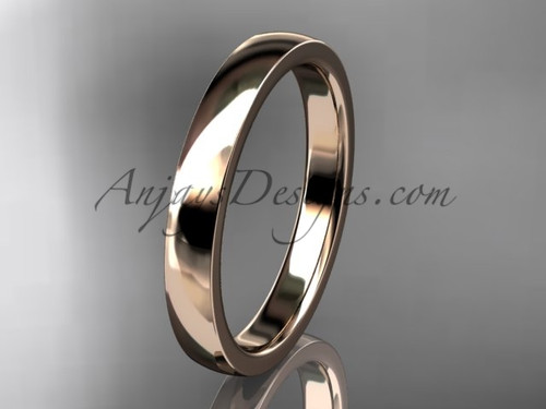 14k rose gold comfort fit 3mm wide wedding band WB50203G