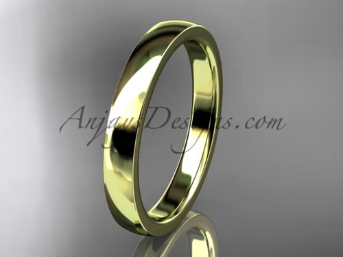 14k yellow gold comfort fit 3mm wide wedding band WB50203G