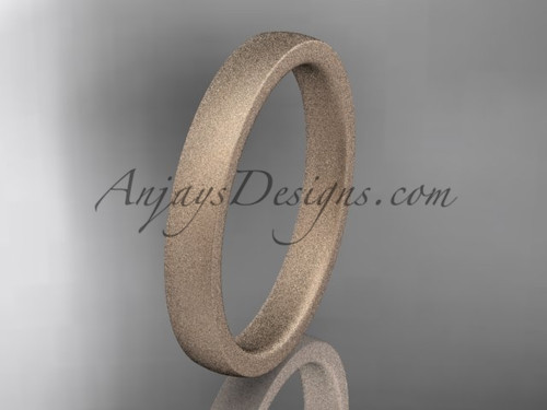 matte finish 14k rose gold 3mm  comfort fit ring WB50203G