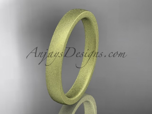 matte finish 14k yellow gold 3mm  comfort fit ring WB50203G