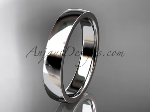 14k white gold comfort fit 4mm wide wedding band WB50204G