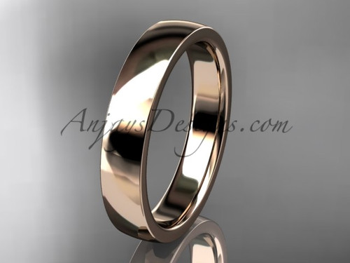 14k rose gold comfort fit 4mm wide wedding band WB50204G