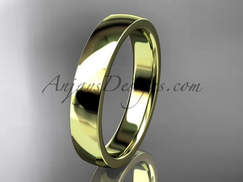 14k yellow gold comfort fit 4mm wide wedding band WB50204G