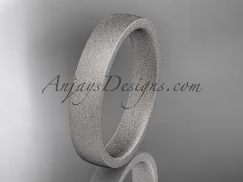 matte finish 14k white gold 4mm  comfort fit ring WB50204G