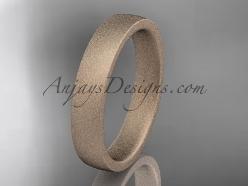 matte finish 14k rose gold 4mm  comfort fit ring WB50204G