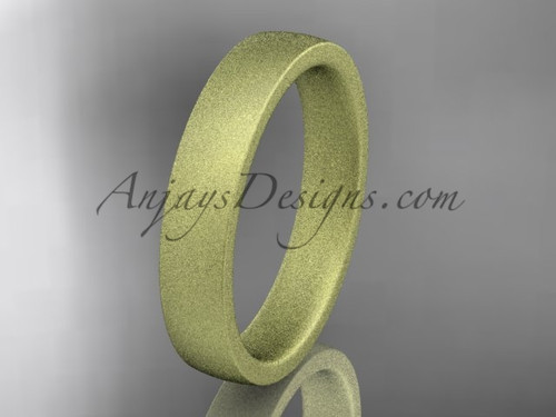 matte finish 14k yellow gold 4mm  comfort fit ring WB50204G