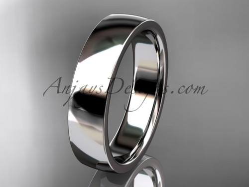 14k white gold comfort fit 5mm wide wedding band WB50205G