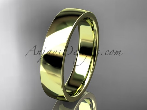 14k yellow gold comfort fit 5mm wide wedding band WB50205G