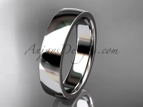 Platinum comfort fit 5mm wide wedding band WB50205G