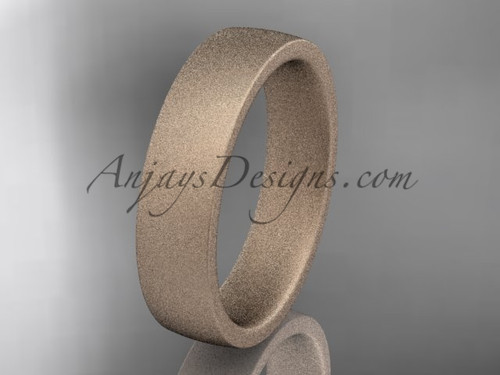 matte finish 14k rose gold 5mm  comfort fit ring WB50205G