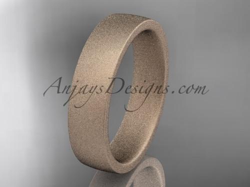 matte finish 14k rose gold 5mm  comfort fit ring WB50205G