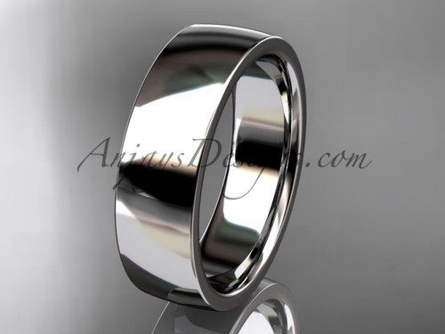 14k white gold comfort fit 6mm wide wedding band WB50206G