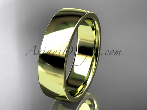 14k yellow gold comfort fit 6mm wide wedding band WB50206G