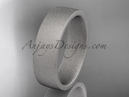 matte finish 14k white gold 6mm  comfort fit ring WB50206G