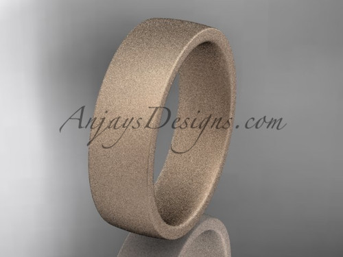 matte finish 14k rose gold 6mm  comfort fit ring WB50206G