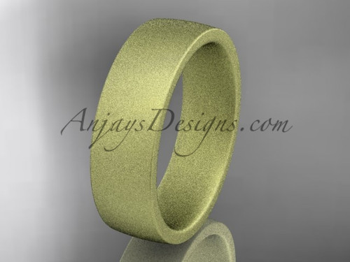 matte finish 14k yellow  gold 6mm  comfort fit ring WB50206G