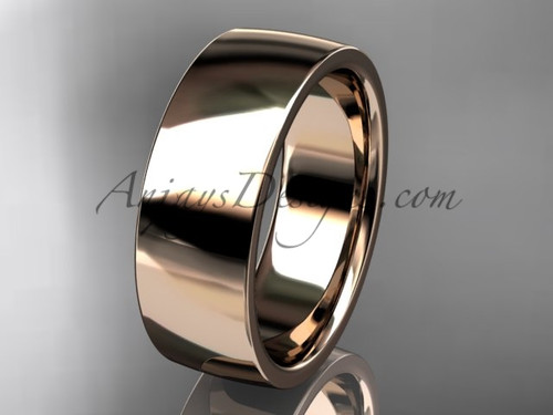 14k rose gold comfort fit 7mm wide wedding band WB50207G