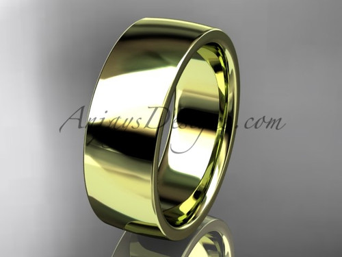 14k yellow gold comfort fit 7mm wide wedding band WB50207G