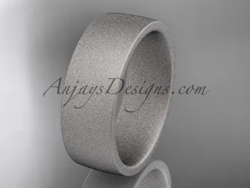 matte finish 14k white gold 7mm  comfort fit ring WB50207G