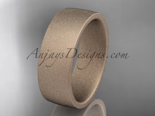matte finish 14k rose gold 7mm  comfort fit ring WB50207G