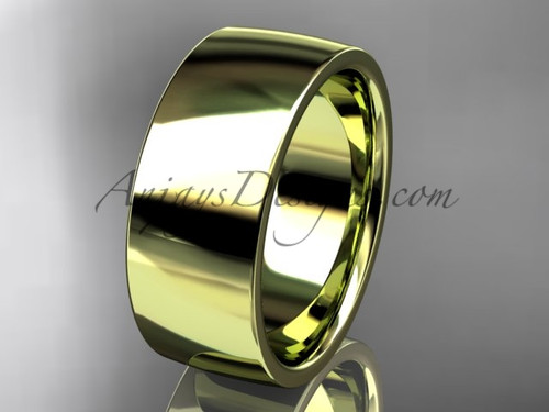 14k yellow gold comfort fit 8mm wide wedding band WB50208G