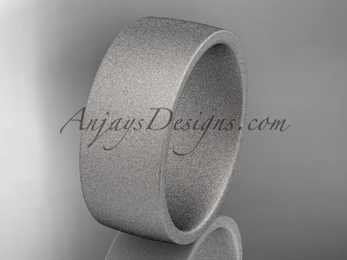 matte finish 14k white gold 8mm  comfort fit ring WB50208G