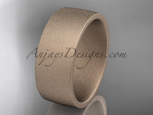 matte finish 14k rose gold 8mm  comfort fit ring WB50208G