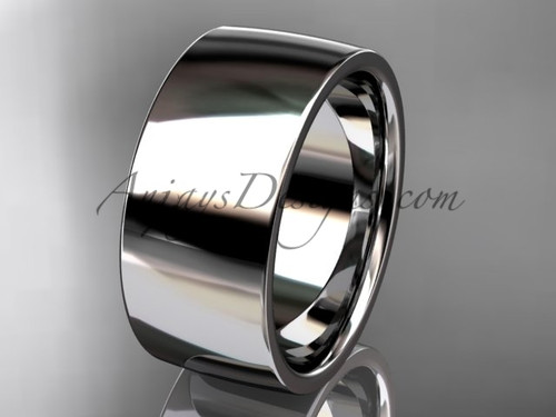 14k white gold comfort fit 9mm wide wedding band WB50209G