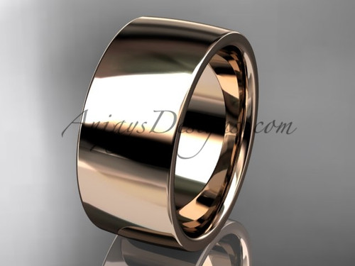 14k rose gold comfort fit 9mm wide wedding band WB50209G