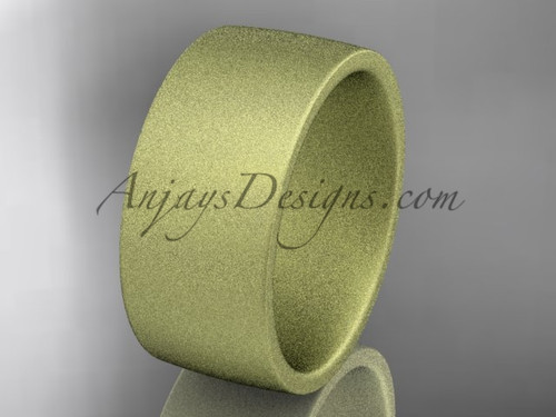 matte finish 14k yellow gold 9mm  comfort fit ring WB50209G