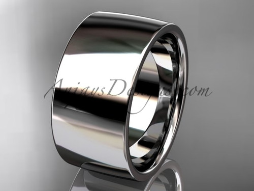 14k white gold comfort fit 10mm wide wedding band WB50210G